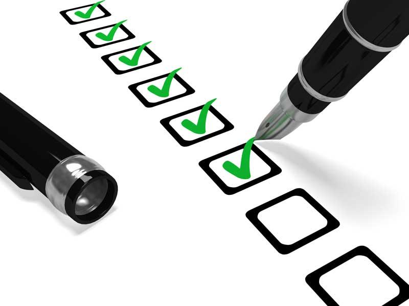 Tick list for pensions auto enrolment